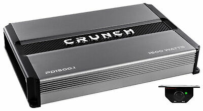Crunch PD1500.1 1500 Watt Mono Amplifier Pro Power Car Stereo Sub Amp Class AB