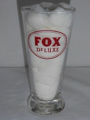 PETER FOX BREWING CO ENAMEL SHAM PILSENER DeLUXE FOOTED ALE BEER GLASS CHICAGO!
