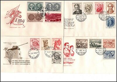 CSSR: ca. 44 FDC from 1952/1953 (099)