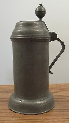 "Antique 1813 pewter tankard stein 11"" German/Dutch hallmarked CMD FAB"
