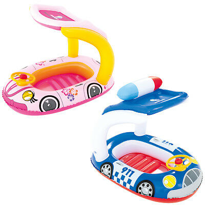 Childrens Inflatable Police & Princess Car Pool Ride On Float Boat UV Protection