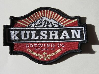 Cool Beer Fabric Patch ~*~ KULSHAN Brewing Co ~ Bellingham, WASHINGTON Mountains
