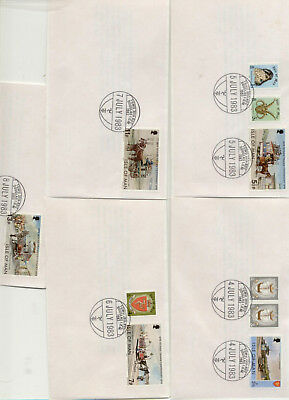 Isle of Man Set of 5 TGWU conference Handstamp Covers, different dates