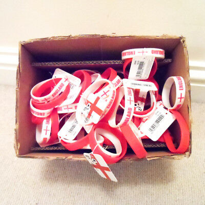 Job Lot – World Cup – 43 Pairs of England Wristbands – New – RRP £2 Each