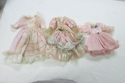 Lot Of 3 Vintage Doll Dresses Barbie Size Dresses