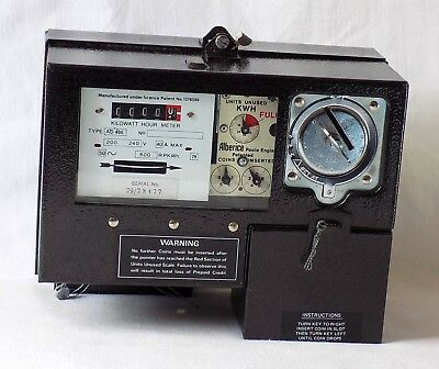 Vintage Alberice Electric Coin Operated 10P Usage Meter. Unused. Still Sealed