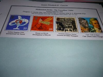 G B 1999 Used Set Travellers Tale Stamps