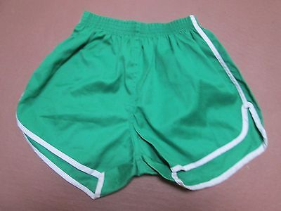 Fine vintage Soffe high cut green cotton PT shorts, Small Adult