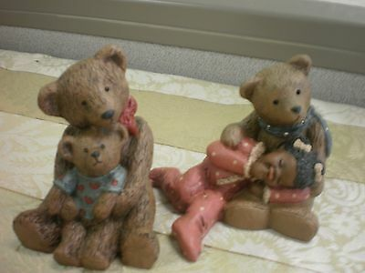 Martha Holcombe All Gods Children Paddy Paw Lucy  Moe Pokey Teddy Bear Figurine