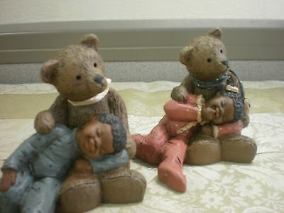 Martha Holcombe All Gods Children Paddy Paw Lucy  & Luke Teddy Bear Figurine