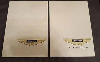 aston martin 2 fold out booklets
