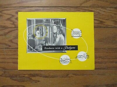 """1952 Caterpillar Brochure.""""products With A Pedigree"""" .d8.d4. D7.dw20.clamshell"""