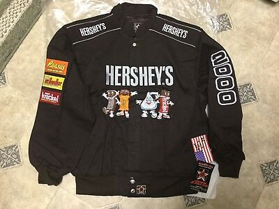 Hershey's Chocolate cotton twill JACKET MINT new w/tag USA made xl Reese's kiss