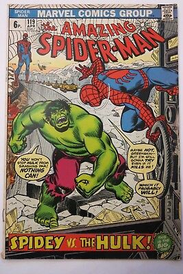 Amazing Spiderman #119 - Spiderman Vs The Hulk - Marvel Comics