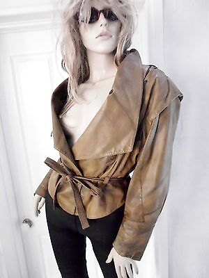 Awesome So Cool  Vintage Crop LEATHER JACKET -sz- Approx S- M