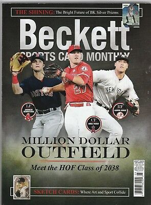 New Beckett Sports Card Monthly Price Guide Magazine March 2018, (Trout, Judge)