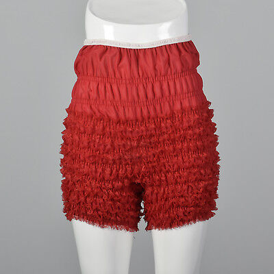M 1970s Red Ruffle Pettipants Square Dance Bloomers Lingerie Separates 70s VTG