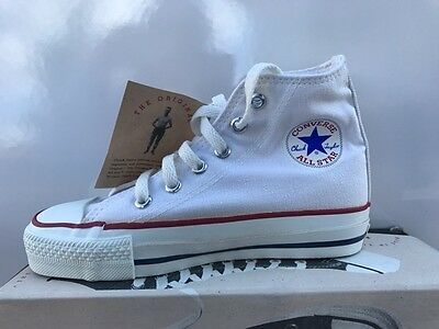 CONVERSE OPTICAL WHITE Hi TOPS  ORIGINAL VINTAGE  NEW CHILDS  SIZE 13 1/2