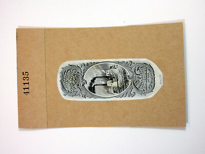 State of New York ABNC Intaglio Proof Vignette w/Steamship, from Registered Bond