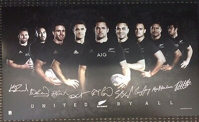 New Zealand All Blacks 2015 Rugby Union World Cup Champions Signed Print Mccaw