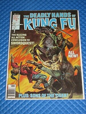 Deadly Hands of Kung Fu #30 Earl Norem 7.0/7.5 Swordquest Conclusion (1976)