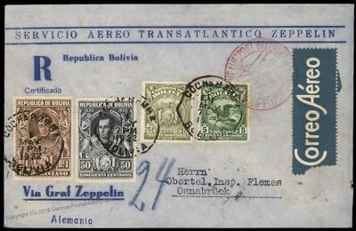 Bolivia 1932 Germany Luftpost Airmail Cochabamba to Osnabruck Flown Cover 84281