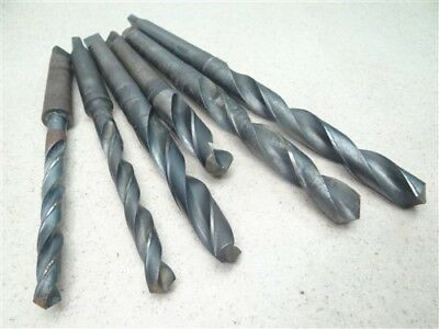 """Lot Of 6 Hss 2Mt Taper Shank Drills 7/16"""" To 25/32"""" Cle-Forge Threadwell"""