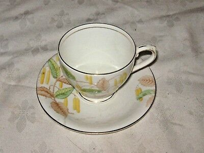A Vintage English Bell Fine Bone China Floral Cup and Saucer