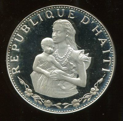 ** Haiti 1973 (One Yr Type) 50 Gourdes Silver....low Minted 5,853 Pcs **
