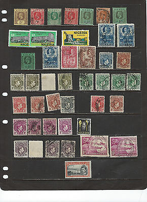 British Colonies-Nigeria--Collection-Many Better-Nice Cancels