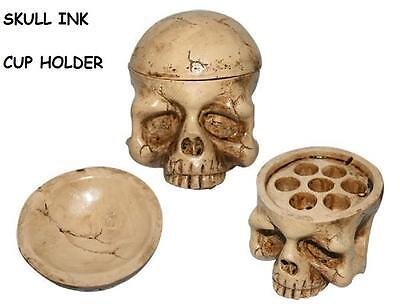 TATTOO SKULL INK CUP HOLDER. Great to use with, Intenze, moms, Kuro Sumi ETC