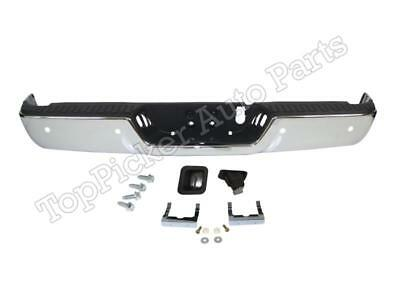For 09-17 Ram 1500 Rear Step Bumper Chrome Assy W//O Sensor W// Dual Exhaust