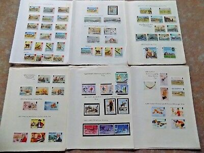 Isle Of Man 1973-1986 Collection Most Mounted Mint
