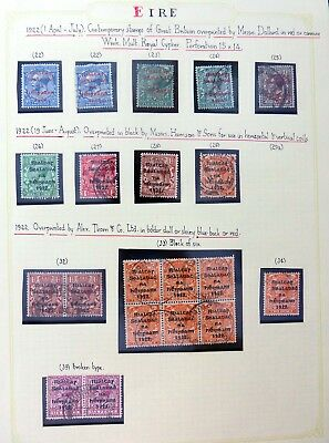 """IRELAND 1922 Dollard Opt's Mint/Used on 2 Pages """"AS IS"""" BJ695"""