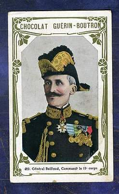 Chromo Guerin-Boutron N°420 General Bailloud Commandant 19e corps trade Card