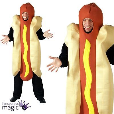 Adult Mend Hot Dog Hotdog Novelty Food Joke Fun Stag Fancy Dress Costume Outfit