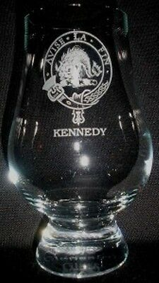 Clan Kennedy Scotch Malt Whisky Glencairn Tasting Glass