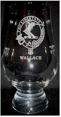 Clan Wallace Scotch Malt Whisky Glencairn Tasting Glass