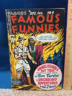 Famous Funnies #202 Eastern Color 1952 Golden Age Comic Book Tom Terriss