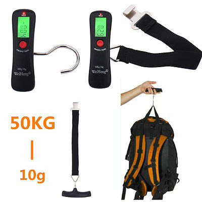 Portable 50kg-10g LCD Digital Hanging Electronic Scale Luggage Weight Scale New