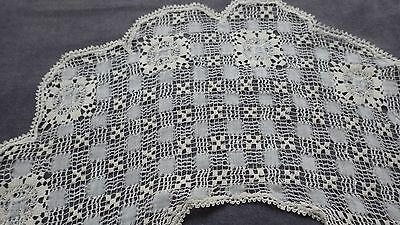 Exceptional DRAWNWORK LACE Collar w TENERIFFE LACE, Very Good Condition