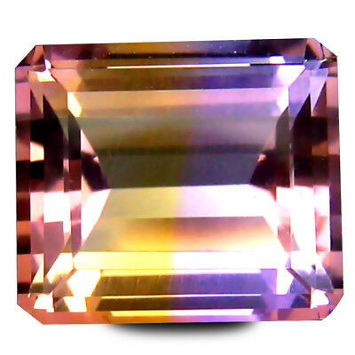 4.44 ct AAA+ Super-Excellent Octagon (10 x 9 mm) Purple and Yellow Ametrine