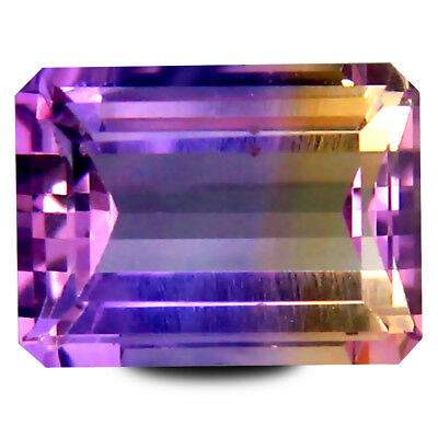 3.97 ct AAA+ Mind-Boggling Octagon Shape (11 x 8 mm) Purple and Yellow Ametrine