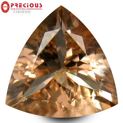2.40 ct PGTL Certified Remarkable Triangle Cut (10 x 10 mm) Morganite Gemstone