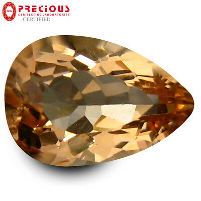 2.47 ct PGTL Certified Mesmerizing Pear Cut (11 x 7 mm) Morganite Loose Gemstone