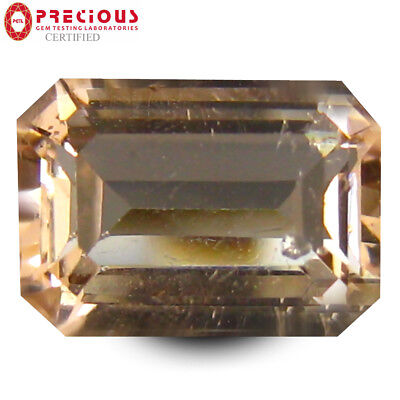 2.93 ct PGTL Certified Incredible Emerald Cut (10 x 7 mm) Morganite Gemstone