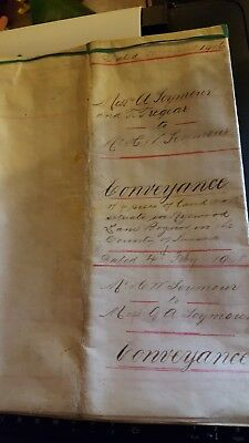 Hand written Conveyance dated 20th August 1906 for land in West Sussex