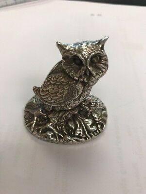 Silver Hallmarked Owl Ornament Sterling 925 Hallmarked