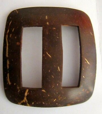 Coconut Shell Tie / Buckle Shape To Secure Sarong Or Scarf Large Size New