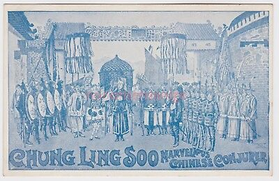 China Chung Ling Soo Marvellous Chinese Magician Conjuror Postcard E20C - 07